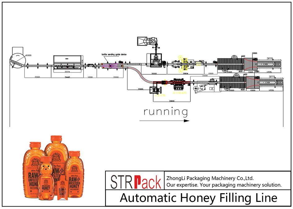 خط پر کننده خودکار عسل