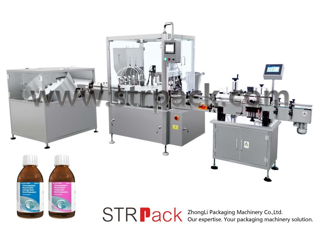 دستگاه پر کردن و بسته بندی شربت مایع خوراکی